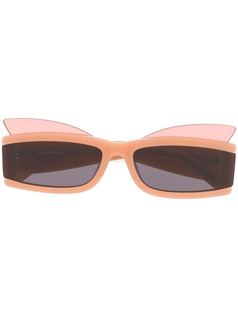 Courrèges Eyewear Eckige Sonnenbrille - Nude