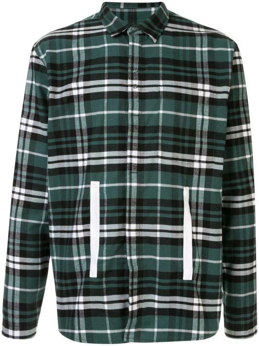 Craig Green Kariertes Hemd mit Besatzstreifen - Grün