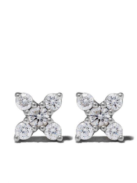 Dana Rebecca Designs 14kt 'Ava Bea' Weißgoldohrstecker mit Diamanten