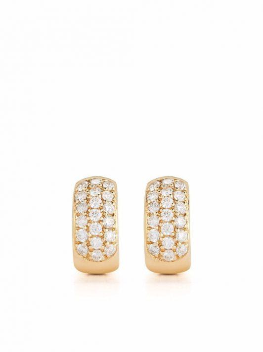 Dana Rebecca Designs 14kt DRD Gelbgoldcreolen mit Diamanten