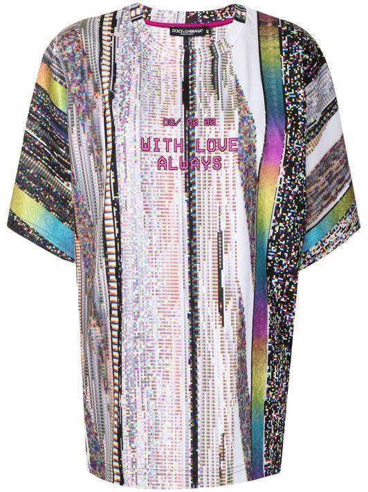 Dolce & Gabbana T-Shirt mit abstraktem Muster - Mehrfarbig