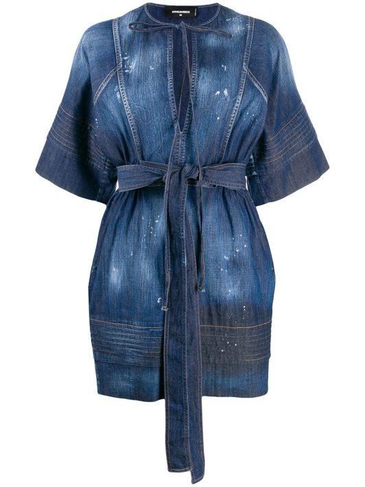 Dsquared2 Klassisches Jeanskleid - Blau