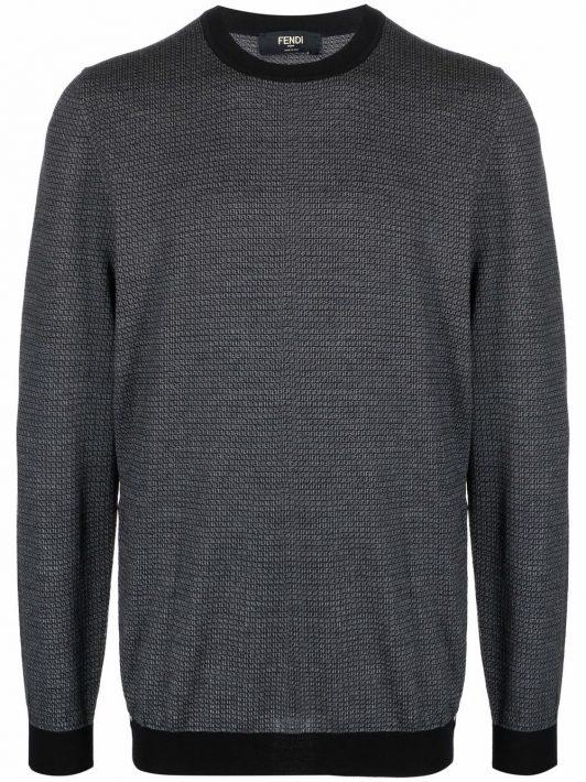 Fendi Strukturierter Pullover - Schwarz