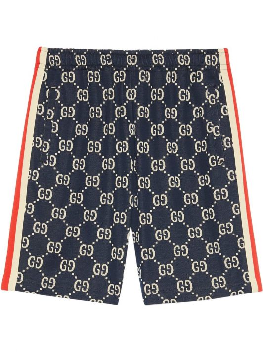 Gucci Jacquard-Shorts mit GG - Blau