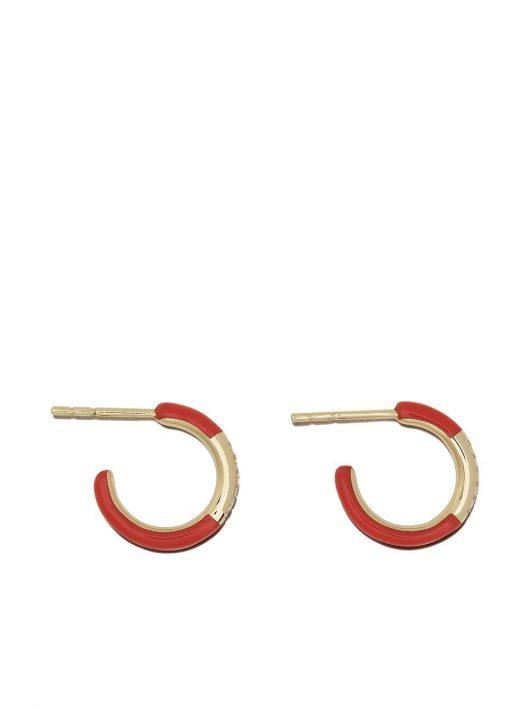 IPPOLITA 18kt Gelbgoldcreolen mit Diamanten - Rot