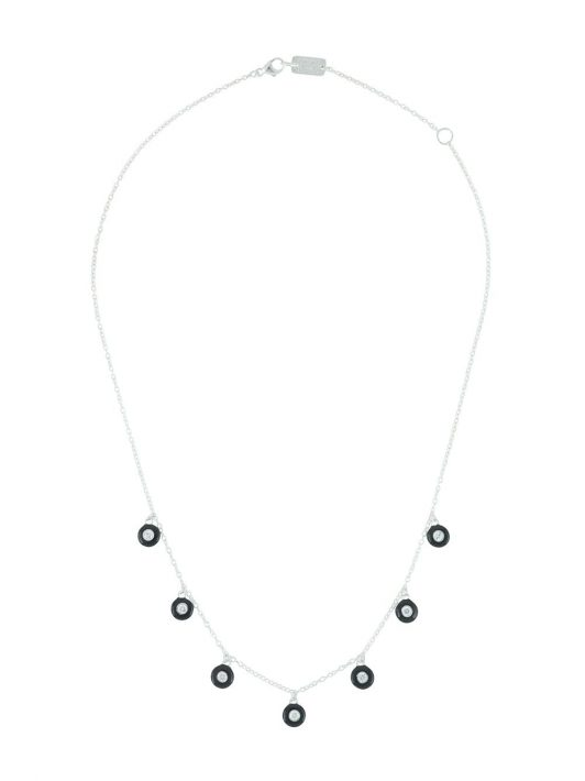 IPPOLITA Lollipop Halskette mit 7 Steinen - Silber