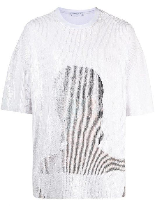 Ih Nom Uh Nit T-Shirt mit Pailletten - Weiß