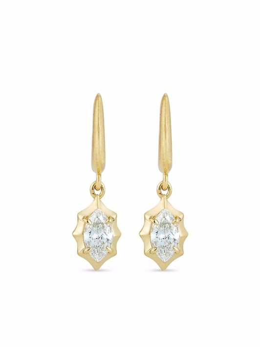 Jade Trau 18kt Maverick Gelbgoldohrringe mit Diamanten