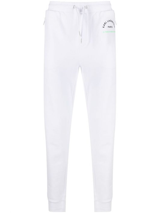 Karl Lagerfeld Jogginghose mit Logo-Print - Weiß