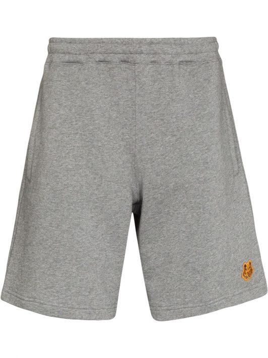 Kenzo Tiger Crest cotton shorts - Grau