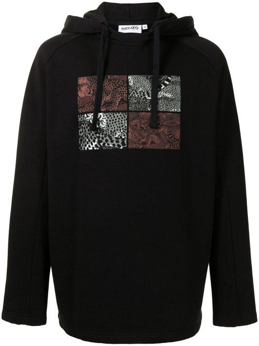 Kenzo seasonal raglan hoodie - Schwarz