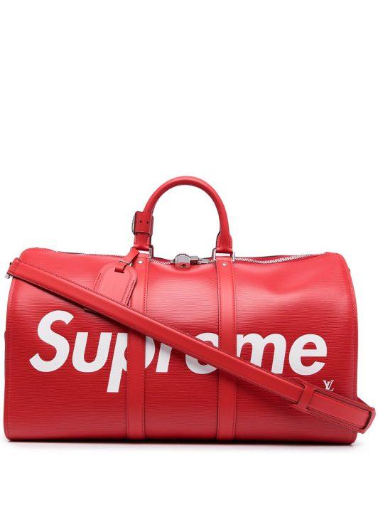 Louis Vuitton x Supreme 2017 pre-owned Keepall Reisetasche 45cm - Rot