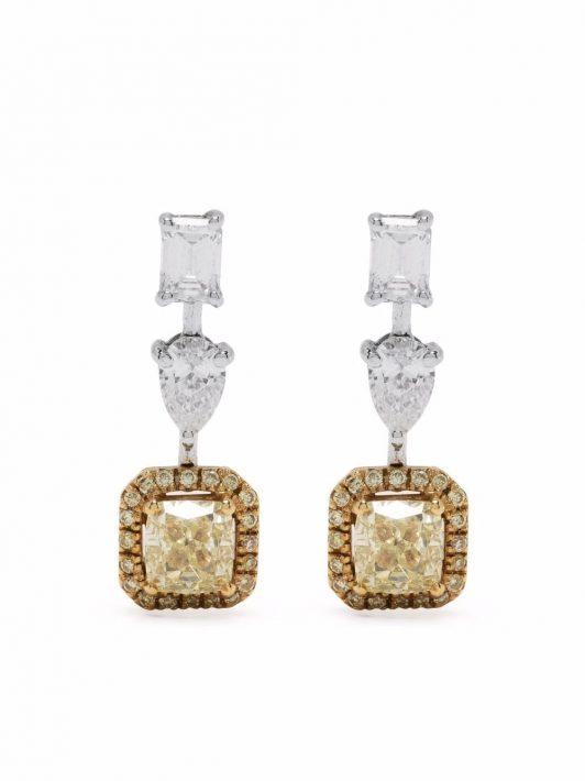 Monan 18kt Weißgoldohrringe mit Diamanten