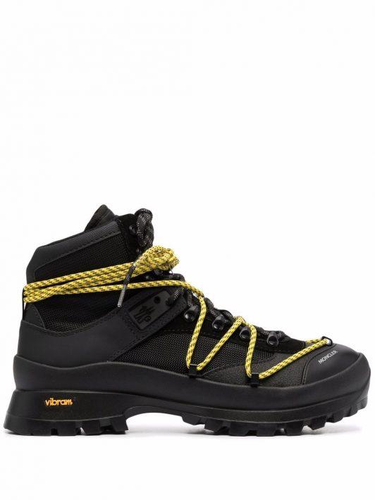 Moncler Glacier lace-up hiking boots - Schwarz