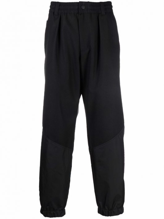 Moncler Grenoble straight-leg wool trousers - Schwarz