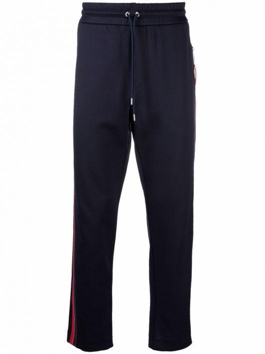 Moncler Jogginghose mit Streifendetail - Blau