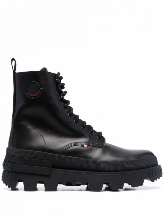 Moncler Mercurious combat boots - Schwarz
