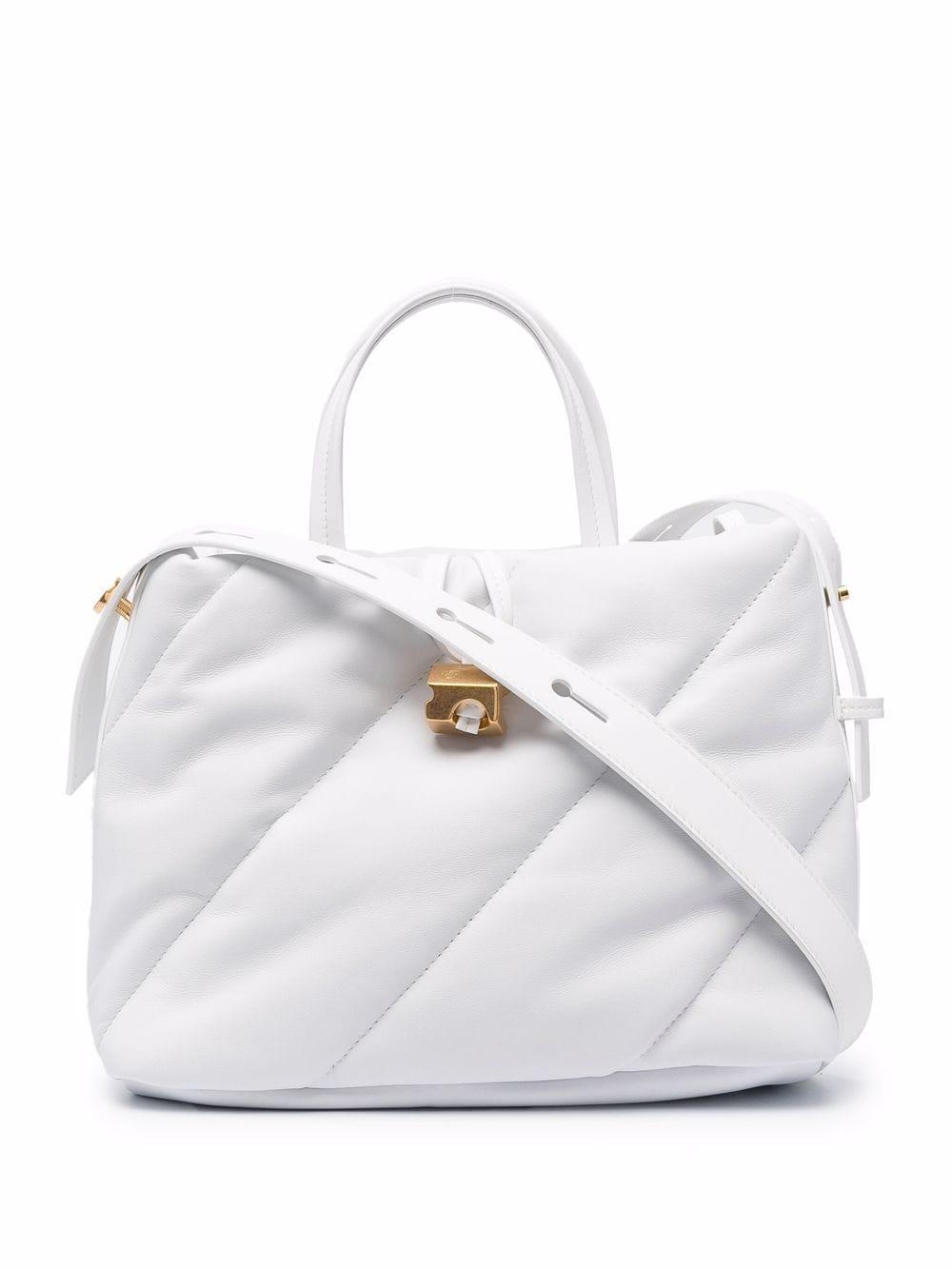 Off-White Nailed Handtasche - Weiß