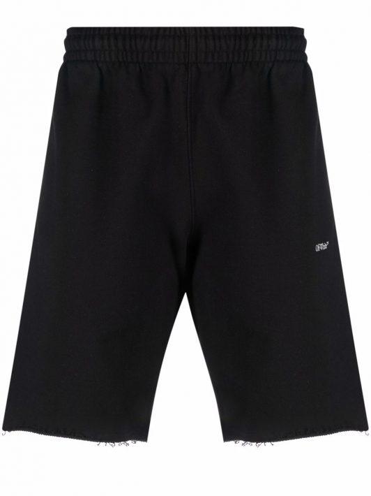 Off-White Tornado Arrows-print sweat shorts - Schwarz