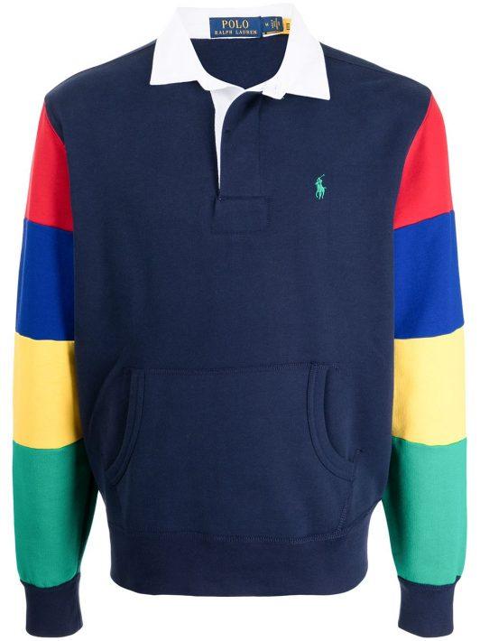 Polo Ralph Lauren Poloshirt in Colour-Block-Optik - Blau