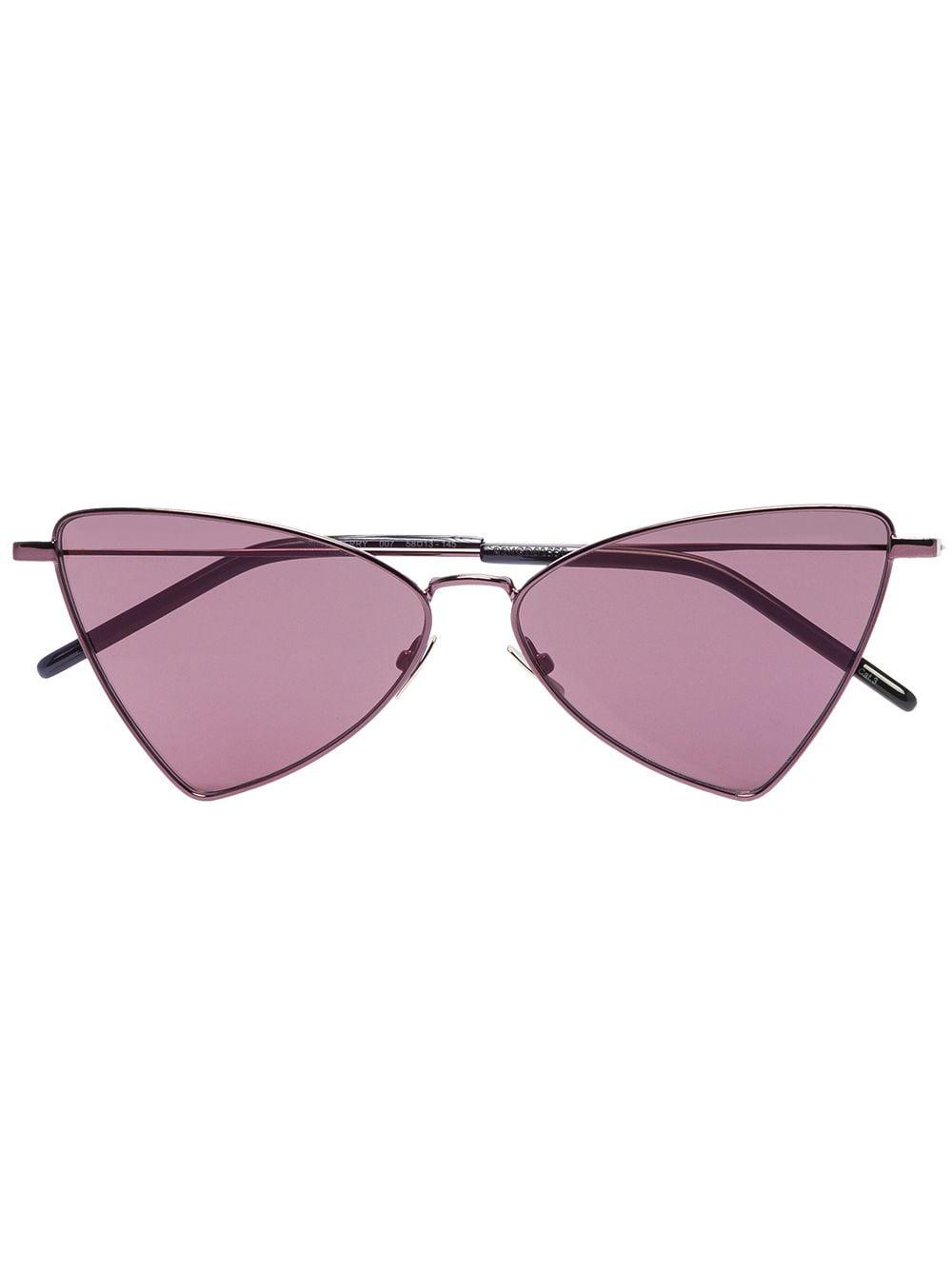 Saint Laurent Eyewear Eckige 'Jerry' Sonnenbrille - Schwarz