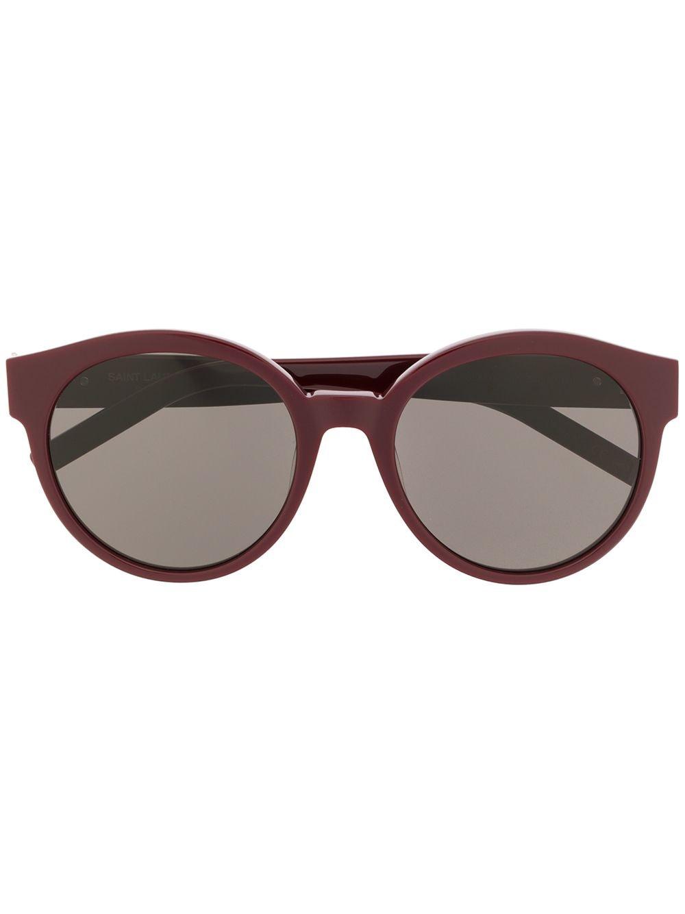 Saint Laurent Eyewear Runde Sonnenbrille - Rot