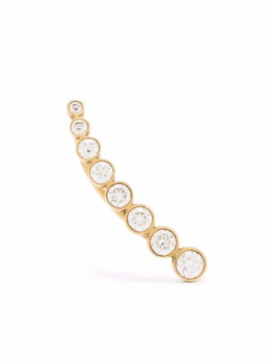Sophie Bille Brahe 18kt Croissant de Lune Gelbgoldohrring mit Diamanten