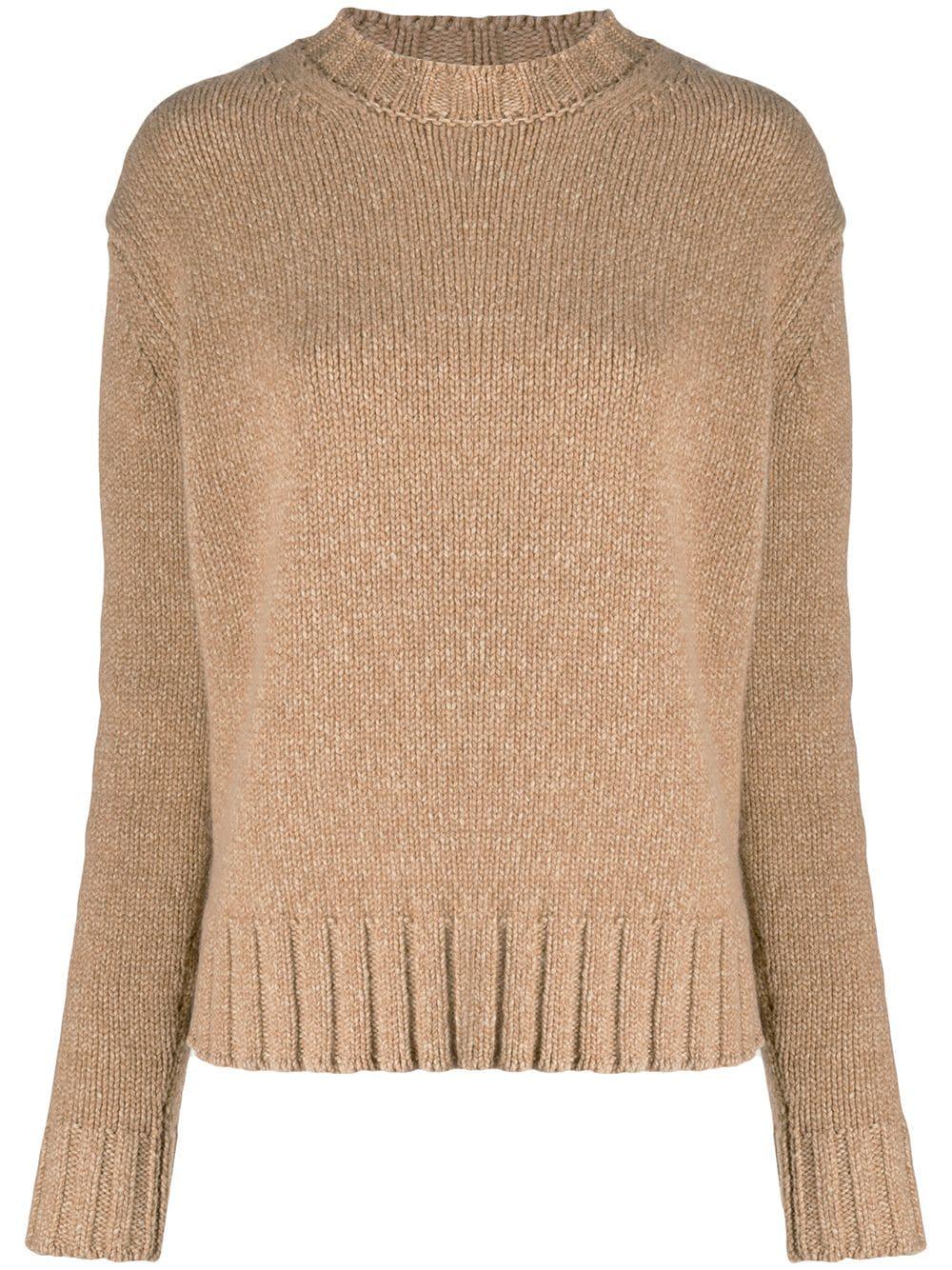 Victoria Beckham Gerippter Pullover - Nude