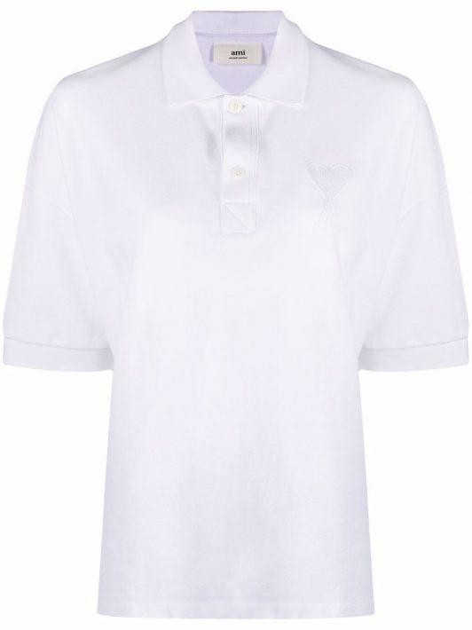 AMI Paris Ami de Coeur Poloshirt - Weiß