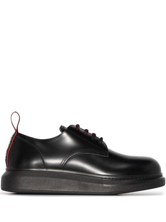 Alexander McQueen lace-up derby shoes - Schwarz