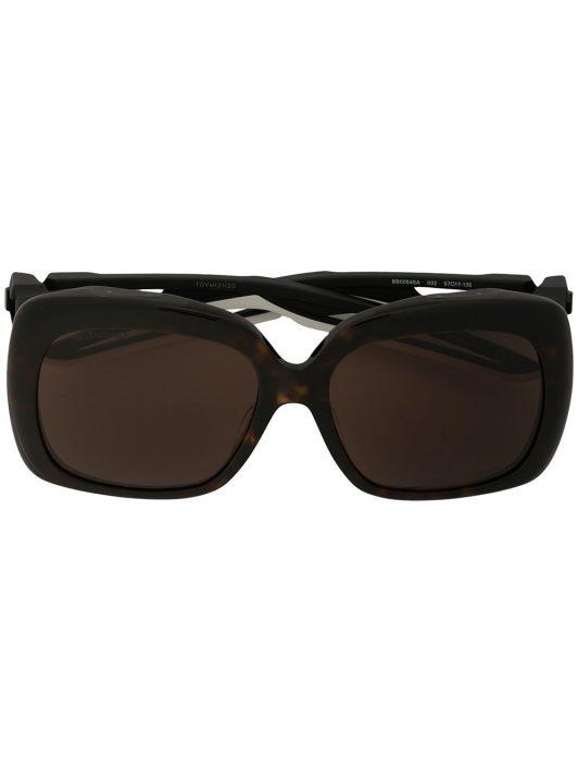 Balenciaga Eyewear Sonnenbrille in Schildpattoptik - Braun