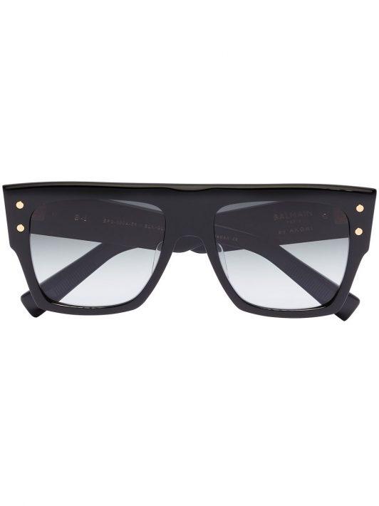 Balmain Eyewear Eckige Oversized-Sonnenbrille - Schwarz