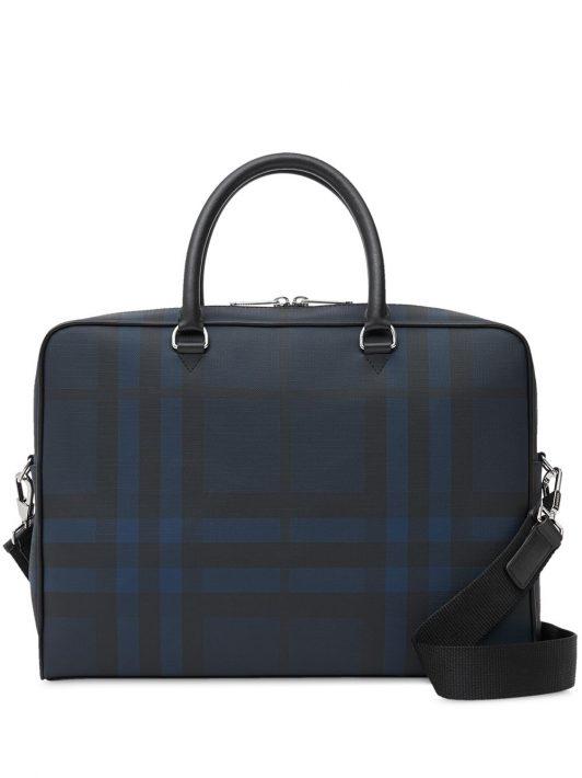 Burberry Aktentasche mit London-Check - Blau