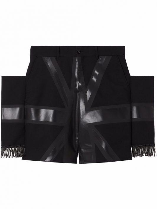 Burberry Shorts mit Flaggen-Print - Schwarz