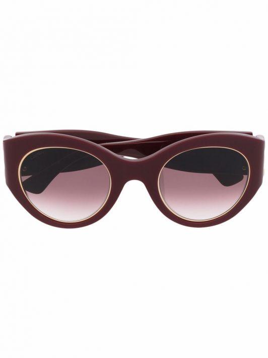 Cartier Eyewear Signature C de Cartier Cat-Eye-Sonnenbrille - Rot