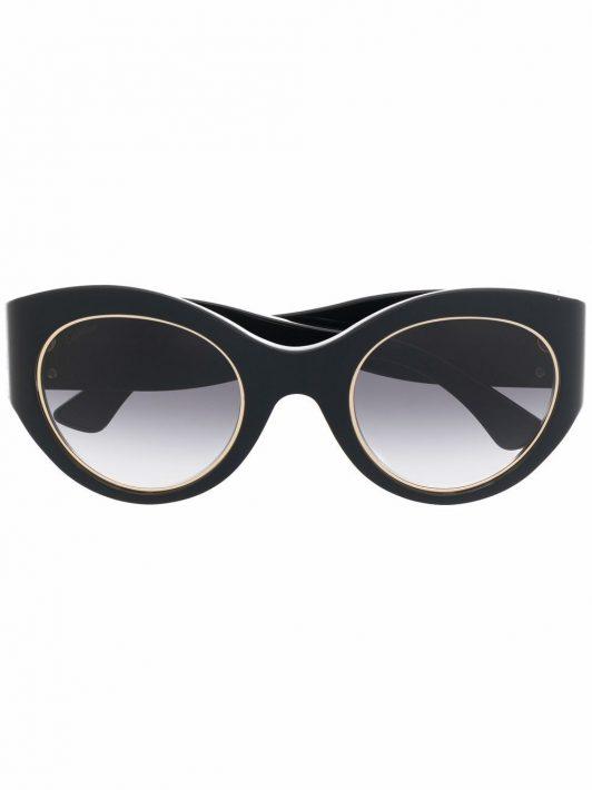 Cartier Eyewear Signature C de Cartier Cat-Eye-Sonnenbrille - Schwarz