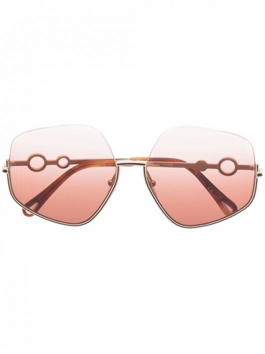 Chloé Eyewear Oversized-Sonnenbrille mit Farbverlauf - Gold