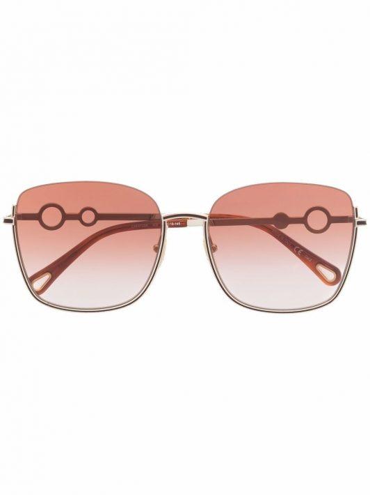 Chloé Eyewear Rahmenlose Sonnenbrille - Gold