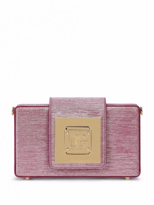 Dolce & Gabbana Clutch mit Logo-Schild - Rosa