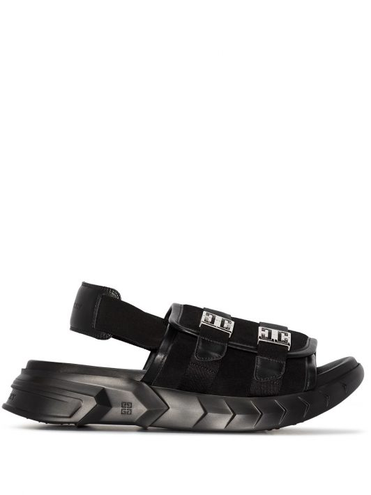 Givenchy Marshmallow slingback sandals - Schwarz