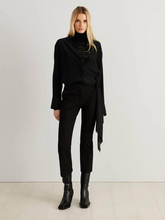 Givenchy - Seiden-Hemd mit Knoten-Detail Schwarz