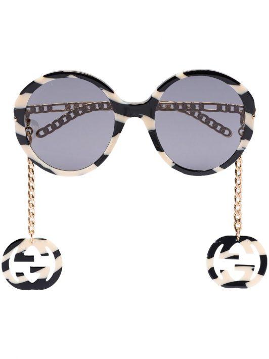 Gucci Eyewear Sonnenbrille mit CC - Schwarz