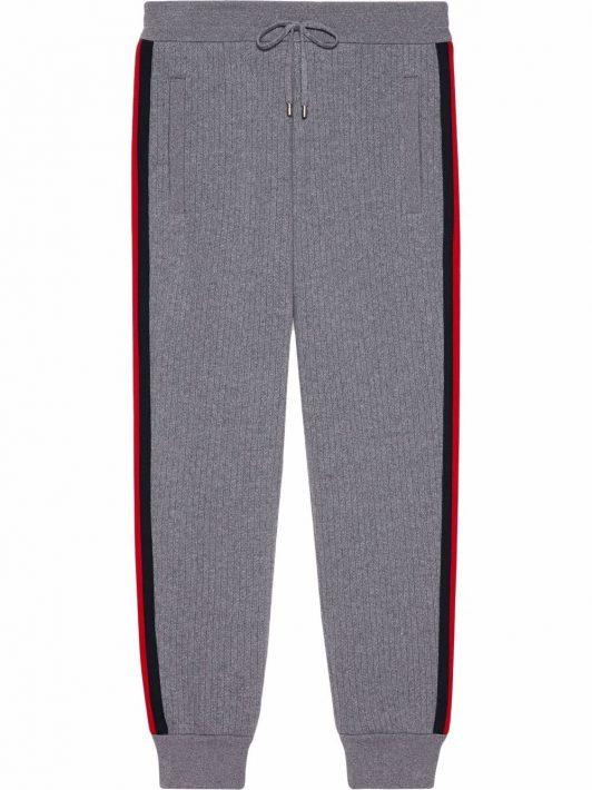 Gucci Jogginghose mit Webstreifen - Grau