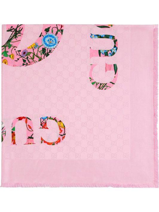 Gucci Schal mit Print - Rosa