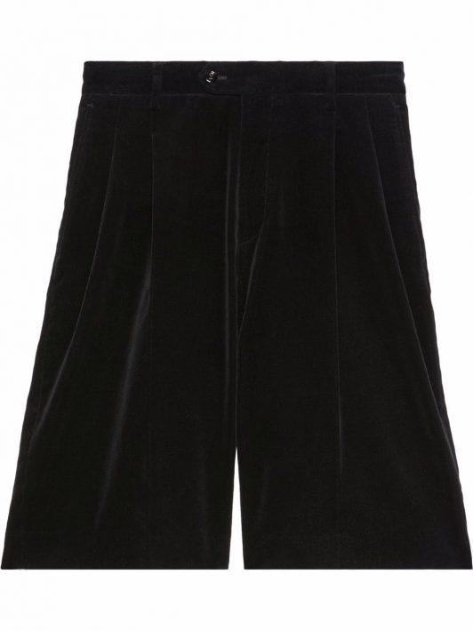 Gucci Shorts in Samtoptik - Schwarz