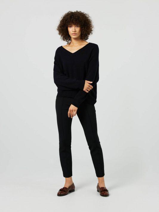 Iris von Arnim - Cashmere-Pullover mit V-Ausschnitt 'Kyoka' Marineblau