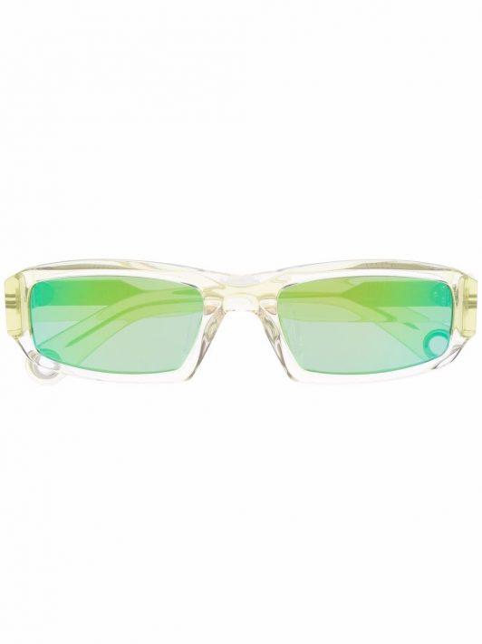 Jacquemus Eckige Les Lunettes 97 Sonnenbrille - Grün