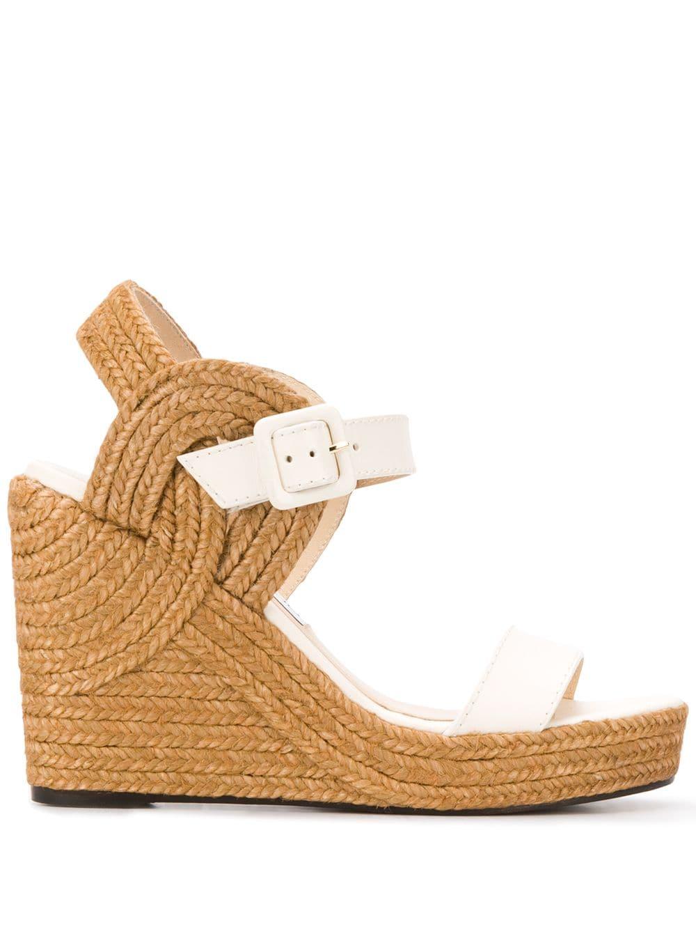 Jimmy Choo 'Delphi' Sandalen - Weiß