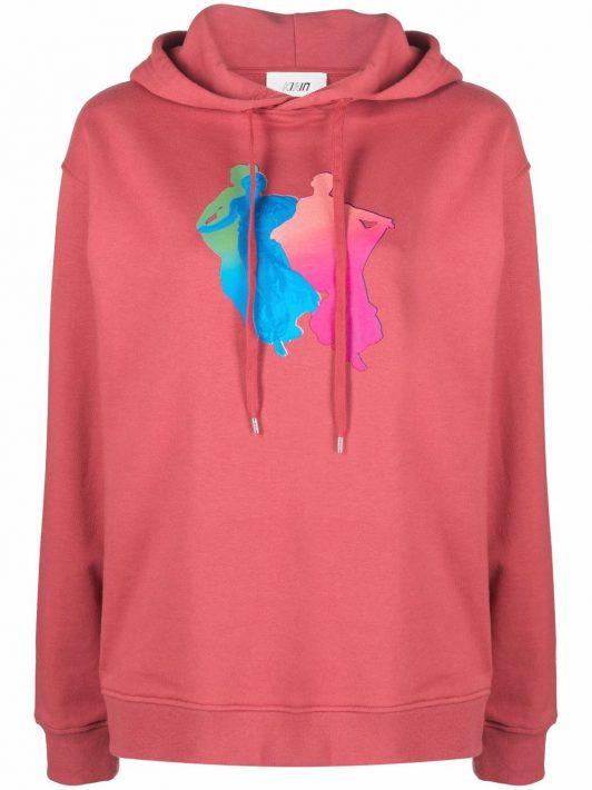 Kirin graphic-print hoodie - Rosa
