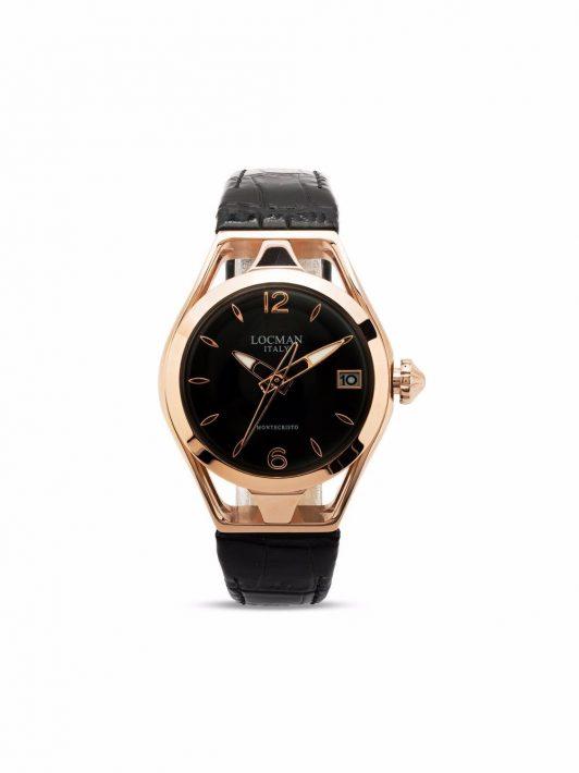 Locman Italy Montecristo Armbanduhr mit Quarzwerk 28mm - Schwarz